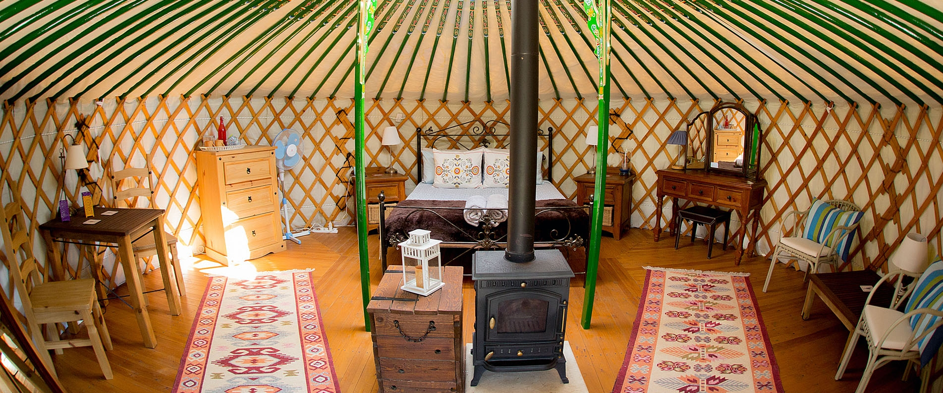 Mongolian yurts campsite in Cyprus